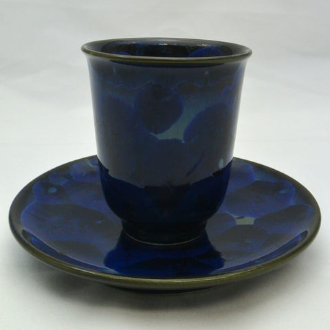 Flower Crystallization Cup&Saucer(M)Black [ Pre-Order ]