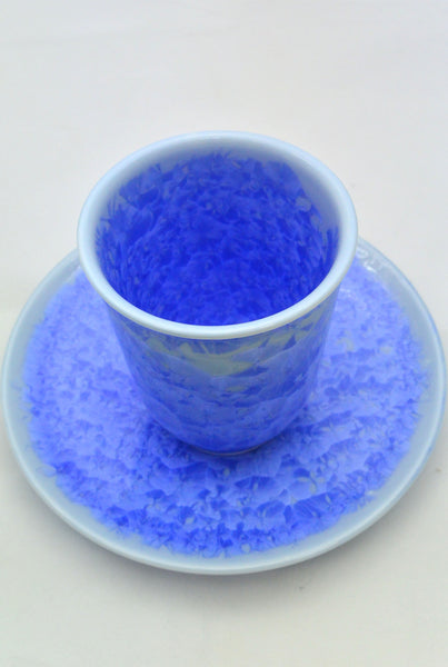 Flower Crystallization Cup Blue