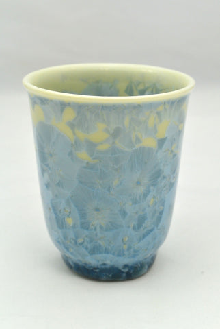 Flower Crystallization Cup Light Blue