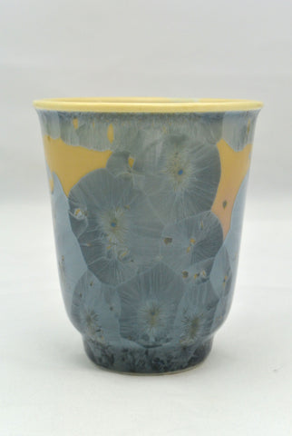Flower Crystallization Cup Gray Blue
