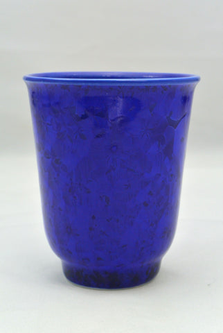 Flower Crystallization Cup Deep Blue