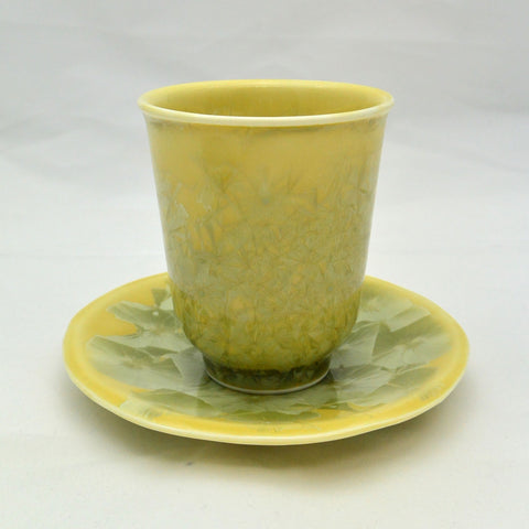 Flower Crystallization Cup&Saucer (S) Yellow