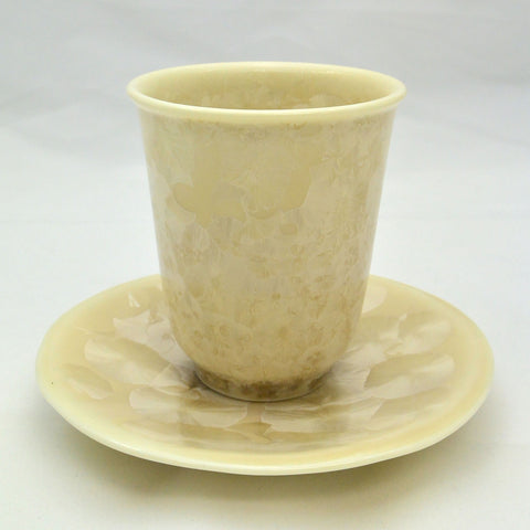 Flower Crystallization Cup&Saucer (S) Brown