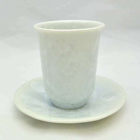 Flower Crystallization Cup&Saucer (S) White