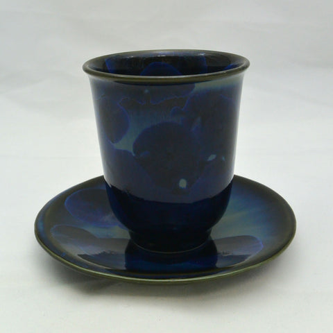 Flower Crystallization Cup&Saucer (S) Black [ Pre-Order ]