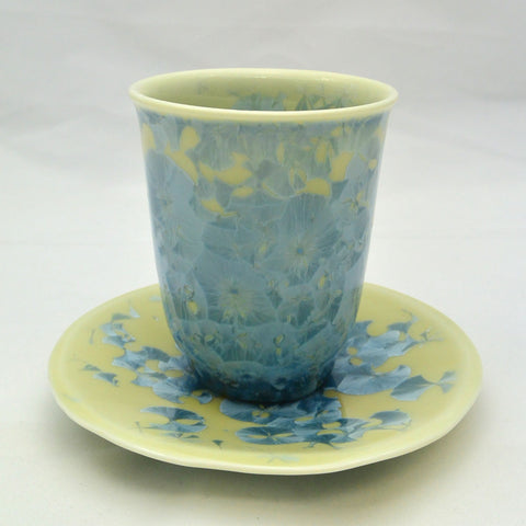 Flower Crystallization Cup&Saucer (S) Light Blue [ Pre-Order ]