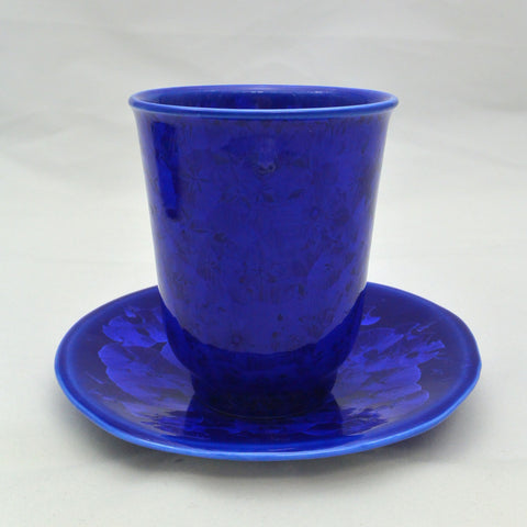 Flower Crystallization Cup&Saucer (S) Deep Blue