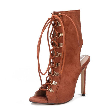 Women S Cross-tied High Heel