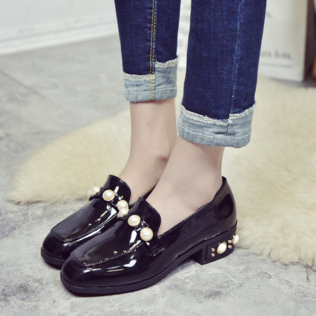Women Shoes Square Toe  Pearl  Flats shoes