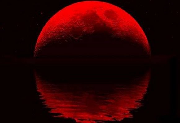 Full Blood Moon Lunar Eclipse in Capricorn. . . . . . . The Sea Goat