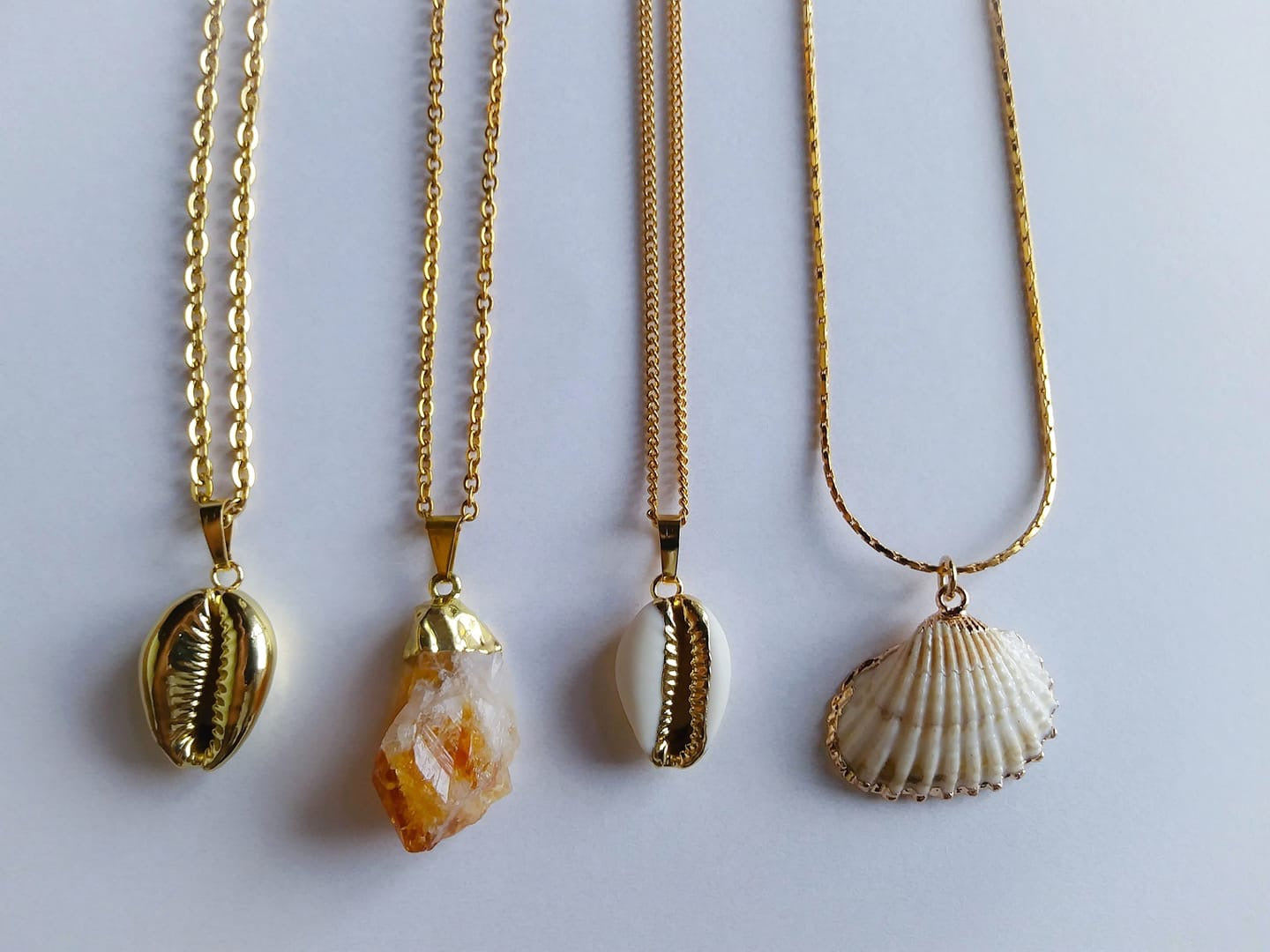 Sea Shells & Citrine Mermaid Collection