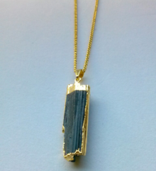 Black Tourmaline Gold Necklace