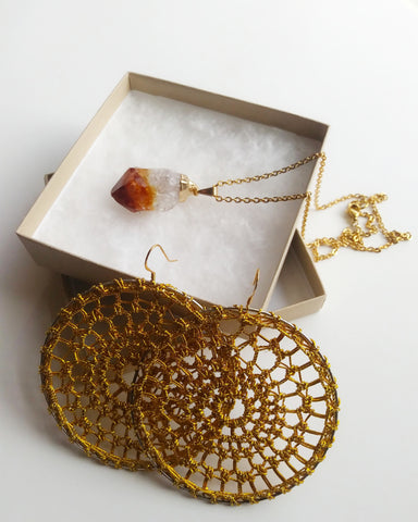 Citrine Necklace Box Set