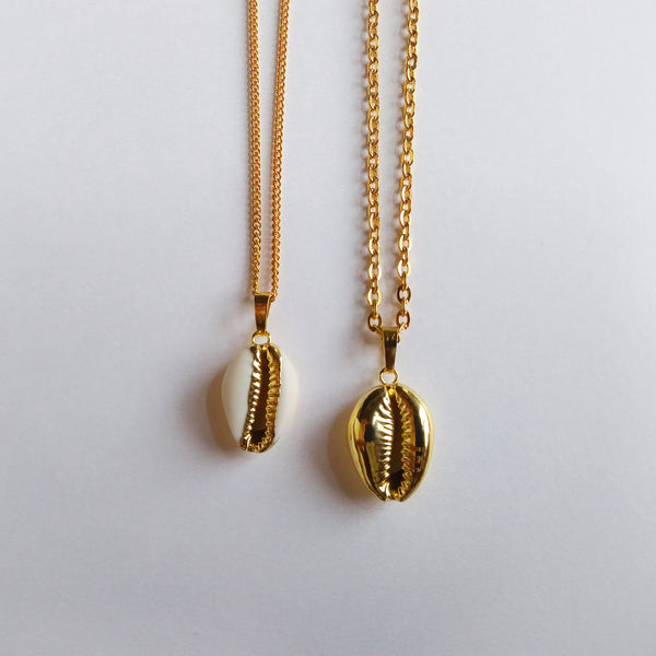 Golden Cowrie Shell Necklace