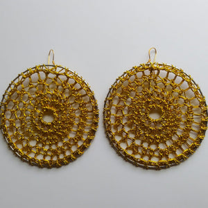 Golden Goddess Crochet Hoops