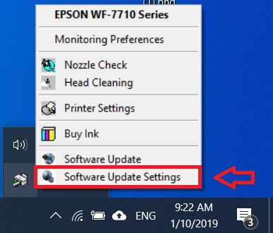 Epson Firmware Update Settings