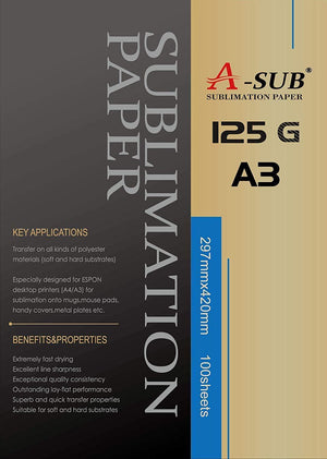 A-SUB High Release & Fast Dry Sublimation Paper for Epson & SAWGRASS printers