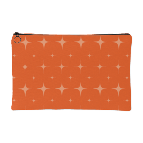 Orange Retro Star Pouch