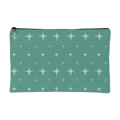 Teal Retro Star Pouch