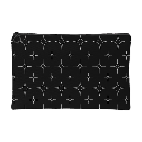Black Retro Star Pouch