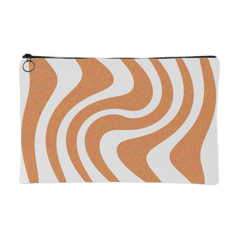 Orange Waves Pouch