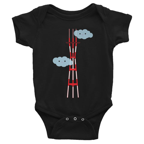 Cute Sutro Clouds Baby Bodysuit