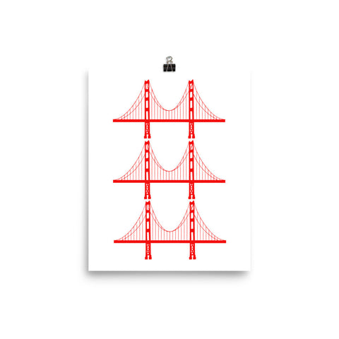 Golden Gate Bridge Trio Poster