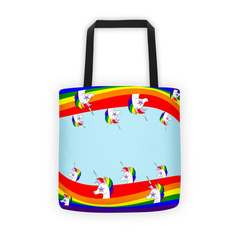 Unicorn Rainbow Waves Tote bag