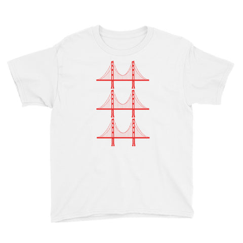Golden Gate Bridge Trio Boy's Short Sleeve T-Shirt