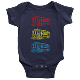 Trolley Trio Baby Bodysuit