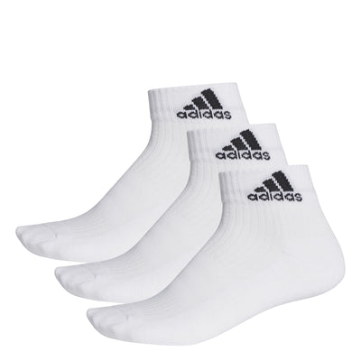 ADIDAS - 3 STRIPES PERFORMANCE ANKLE SOCKS (3 PAIRS)