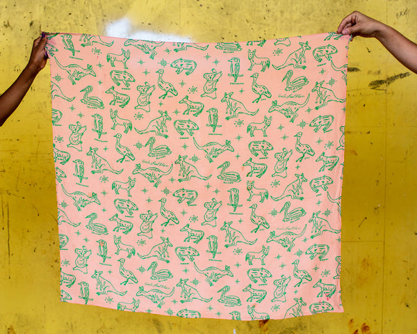 Silk scarf - Jinibara Country animals