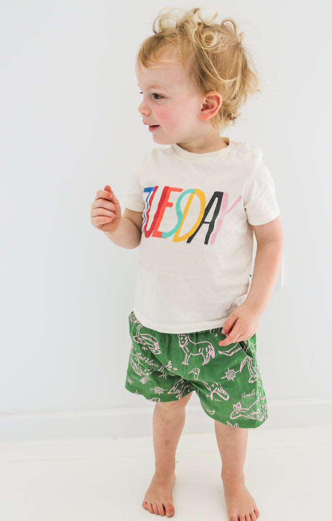 Kid's shorts - Jinibara Country Animals