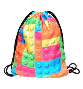 Lego Blocks Drawstring Bag Vintage Lego Backpack