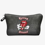 Rolling Stoned Print Cosmetic Bag