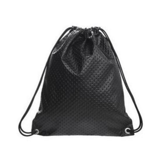 Rock Chick Drawstring Bag Polka Dot Faux Leather Backpack