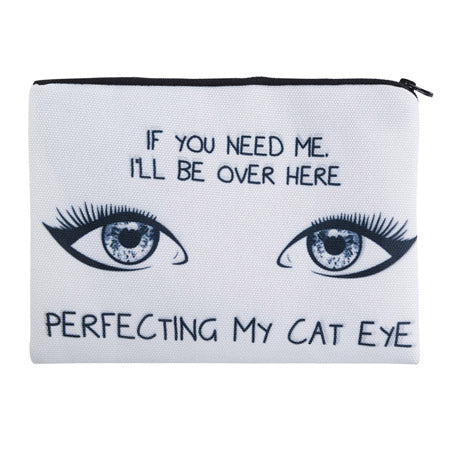 Cat Eye Make Up Bag Zipped Cosmetic Bag Travel Pouch