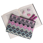 Geometric Print Make Up Bag Zipped Cosmetic Bag Travel Pouch