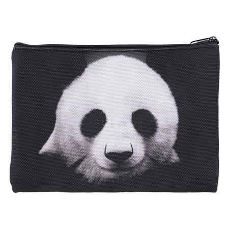 Panda Make Up Bag Zipped Cosmetic Bag Black and White Travel Pouch
