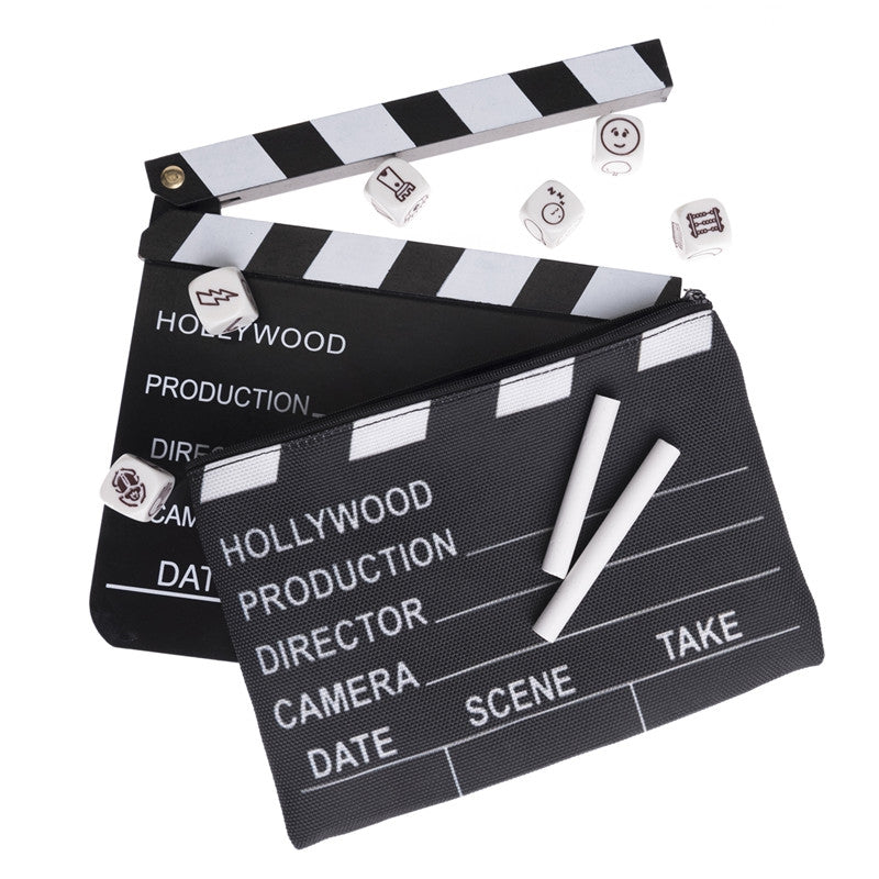 Movie Clapboard Black & White Make Up Bag Zipped Cosmetic Bag