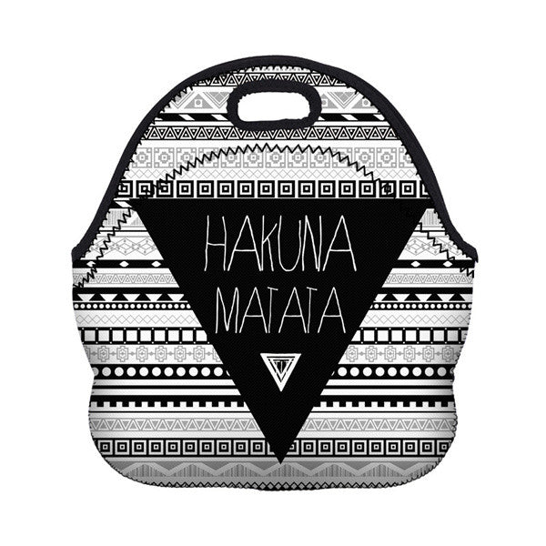 Hakuna Matata Lunch Bag Black & White Snack Bag
