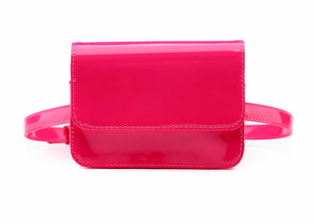 Stunning Patent Leather Fanny Pack Elegant Ladies Waist Bag - 4 Colors