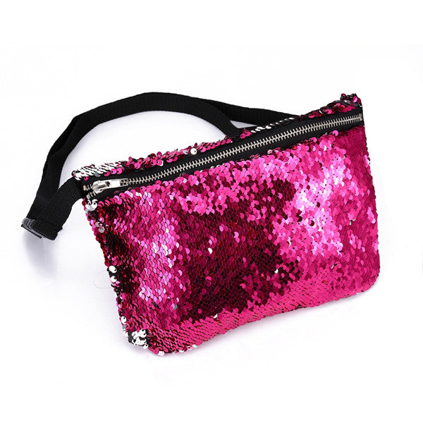 Sequins Fanny Pack Mermaid Bum Bag on a Strap