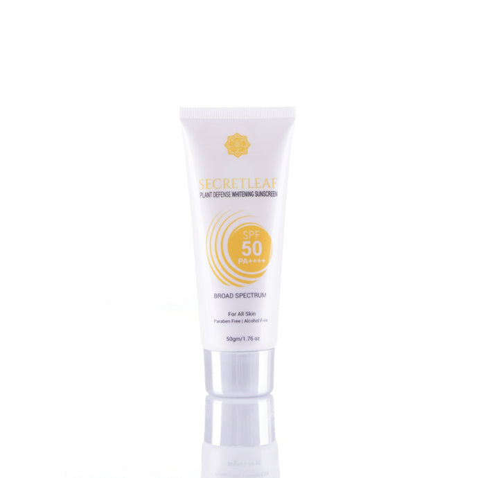 Secretleaf Plant Defense Whitening Sunscreen SPF50/PA++++ Broad Spectrum 50g - Secretleaf Skin Beauty