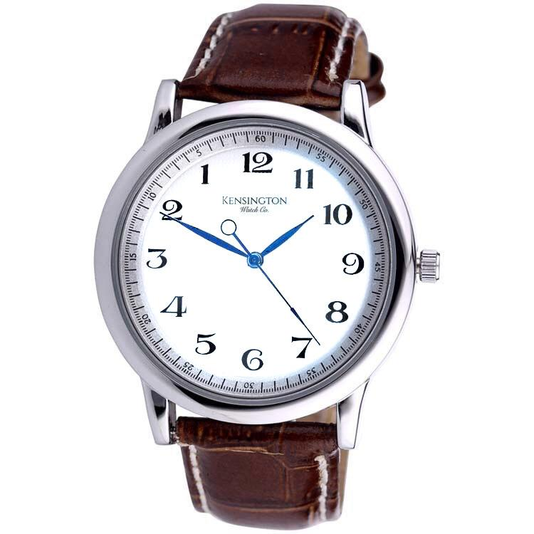 Carpe Diem | 40mm | White Dial Brown Strap