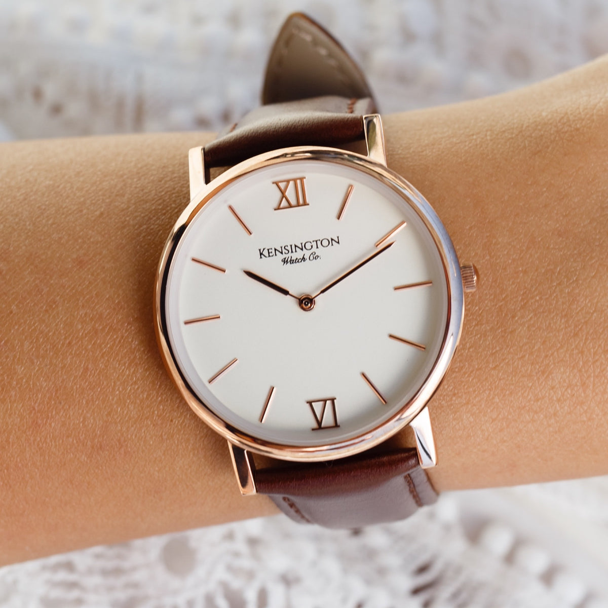 The Regency | 36mm | Brown Leather Strap