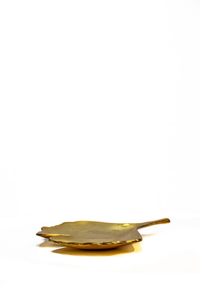 Small Gilt Leaf-shaped Tray