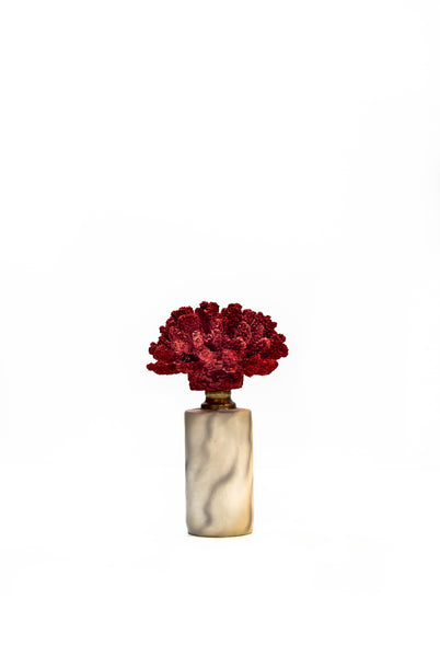 Reef Red Coral and Marble Objet d'Art
