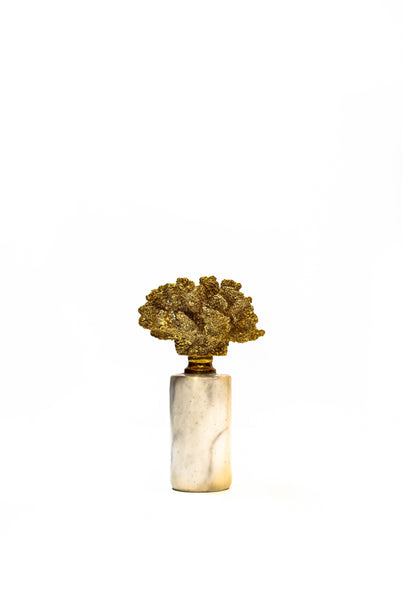 Gilt Coral and Marble Objet d'Art