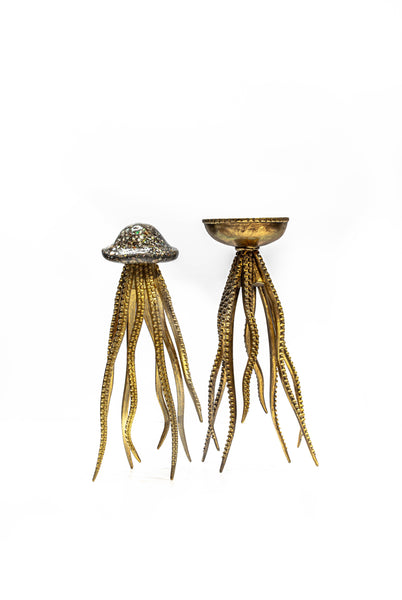 Gilt and Silver Octopus Sculptures